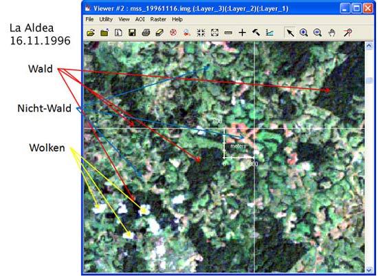 La Aldea - 1996-11-16 - Die meisten Satellitenbilder von Costa Rica stammen aus den Wintermonaten, da hier keine Regenzeit herrscht und damit weniger Wolken das Bild trüben. Die würden die Analyse erschweren.