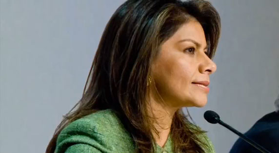 Laura Chinchilla, erste weibliche Präsidentin Costa Rica´s
