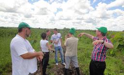 Knut Radicke, Agrar-Ingenieur und GF der Life Forestry Ecuador S.A. erklärt den Aufbau der Plantagen.