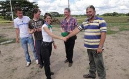 Verabschiedung durch Life Forestry Ecuador Geschäftsführer Knut Radicke.