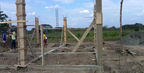 Hier entsteht das neue Plantagenhaus auf ''Santa Rosa'', bis Ende Oktober 2011 soll es fertig sein