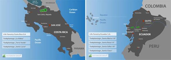 Life Forestry Plantagen in Costa Rica und Ecuador