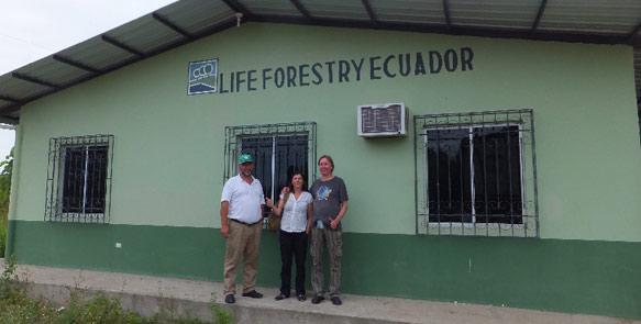 Haupthaus der Teakplantagen in Ecuador