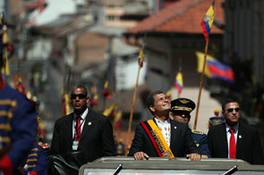 Präsident Rafael Correa