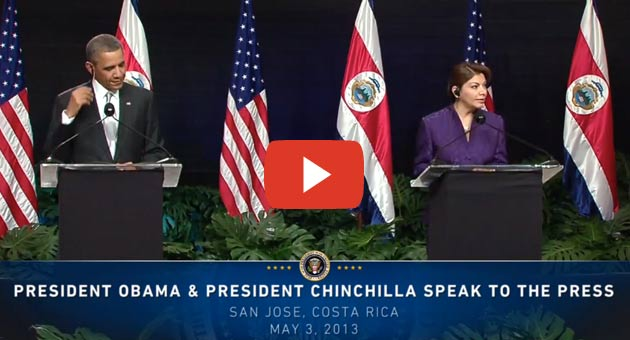Pressekonferenz B. Obama in Costa Rica »»