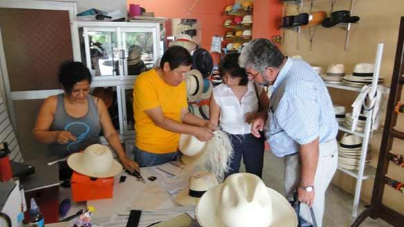 Panama-Huthersteller Senor Artesanias