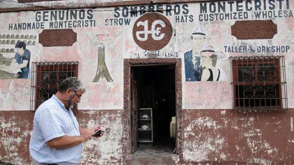 Stadt Montecristi an der Pazifikküste von Ecuador