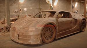 Liebevoll-Teakfactory: Ein Bugatti Veyron als 1:1 Teakholz Replica